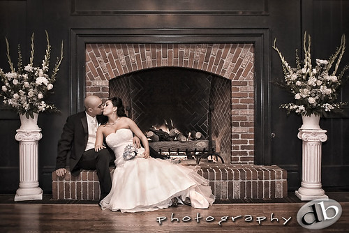 A Kiss by the Fireplace