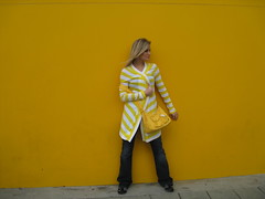 Where's iJ? (ijustine) Tags: yellow wall stripes camoflauge ijustine