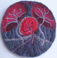 Tree Patterns (kayla coo) Tags: trees art landscape embroidery textile fiberart brooches textileart treepatterns kaylacoo