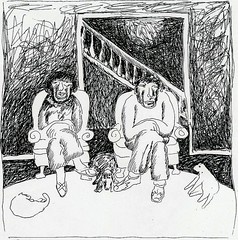 old married couple (siptakg) Tags: old woman dog cats man couple drawing marriage sit rest decompose siptak