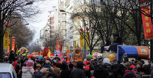 Beaucoup, beaucoup de monde pour ce Nouvel An Chinois