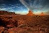 Monument Valley - The Mittens (mojo2u) Tags: sunset arizona southwest utah desert redrock monumentvalley hdr monoliths sigma1020mm navajotribalpark themittens photomatrix bej nikond80 dragondaggerphoto theartlair