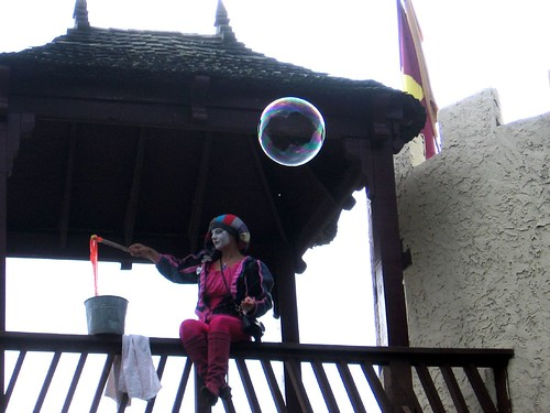 Maryland Renaissance Festival - Mimi blowing bubbles