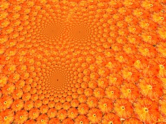 orange (fdecomite) Tags: orange circle spiral packing gimp sphere slice math doyle povray