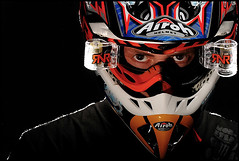 MX portrait (James Clews) Tags: portrait sports sport monster studio energy pocket motocross wizards searle airoh strobist