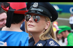Hong Kong Sevens - Cop (James Yeung) Tags: carnival people game cute sunglasses fun hongkong costume interestingness uniform pretty rugby candid police 7 explore cop policewoman behave rugbysevens 7s hongkongstadium hongkongsevens explored rugby7s  ef135mmf2lusm canon5dmarkii