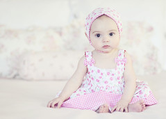 Look who's sitting up now!!! (Shana Rae {Florabella Collection}) Tags: pink portrait baby love girl beautiful up sitting dress sweet naturallight 6monthsold kerchief florabella nikond700 shanarae
