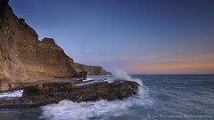The Forbidden Coast (Jim Patterson Photography) Tags: ocean california longexposure sunset sky seascape clouds landscape photography coast rocks waves pacific scenic warmth highway1 coastal shore coastline davenport greyhoundrock swanton santacruzcounty nikkor1224mm flickrdiamond nikond300 beneathblueseas beneathblueseascom jimpattersonphotography jimpattersonphotographycom seatosummitworkshops seatosummitworkshopscom