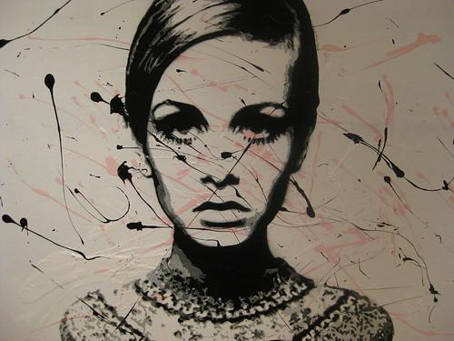 Twiggy Splattered 海外女優、モデルの壁紙ツィッギー/Twiggy DESKTO