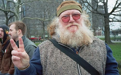 a Vietnam vet and a consistent war protester
