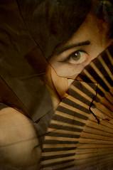those eyes (xizii) Tags: old portrait eye fan mysterious stare scorch xizii