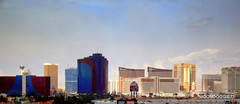 April 11 09 Rio Ipanema, Stratosphere, Trump, Fountainbleau, Rio Masquerade, Turnberry, Encore, TI Treasure Island, Mirage, Wynn, Palazzo, Venetian, Caesars Palace with the power poles and lines cloned over with Picasa (moondoggie71) Tags: las vegas rio lasvegas nevada palace mirage venetian trump fountainbleau caesars encore ipanema stratosphere touchedup turnberry rioipanema titreasureisland april1109 riomasquerade wynnpalazzo