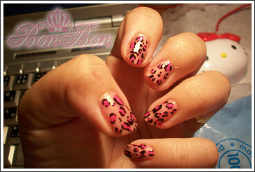 Animal printing nail art design