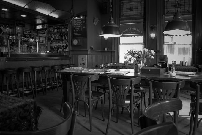 Een leeg café Bolwerk