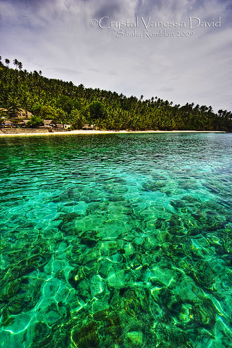 Clear waters in Mahaba Beach, Sampong