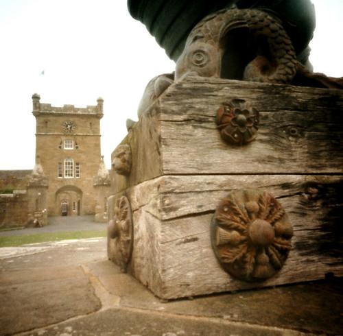 Cannon and clock tower Culzean pinhole image