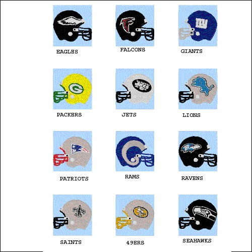 NFL MACHINE EMBROIDERY DESIGNS