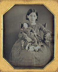 Girl and her doll by W.H. Smith Philladelphia (Mirror Image Gallery) Tags: daguerreotype girlwithdoll dollantiquedoll