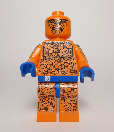 Marvel fantastic 4 thing custom minifig