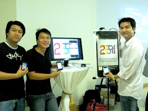 Mickey, Wenhan and Hong Ting from 2359 Media.