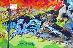 NYC - Brooklyn - DUMBO: Death from Above (wallyg) Tags: nyc newyorkcity streetart ny newyork brooklyn graffiti mural revs dumbo gothamist deathfromabove fireandice kingscounty