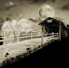 Moonlight Rider ~(MII-3)~ (Gravityx9) Tags: bw halloween sepia photoshop altered reaper ghost chop click grimreaper amer 0509 mii horseman superbmasterpiece venusrising rjg329 mii3 extraordinarycompositions thesuperbmasterpiece makeitinteresting kickassshot angelsangels sensationalcreations northwindsdaughter traderdoc envyofpsphotoart 052909 backgroundsedited