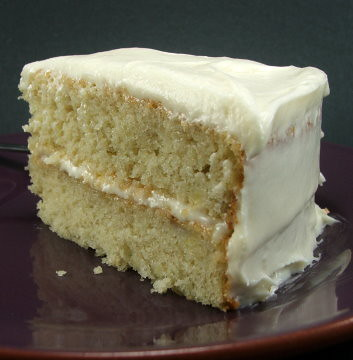 Very Vanilla Butter Cake & Fluffy Cream Cheese Frosting ...