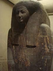 Outer Coffin of a Priest (meechmunchie) Tags: ancient egypt egyptian sarcophagus mummy coffin dynasty funerary 22nd ancientegypt libyan priesthood papacy deirelbahri cartonnage newkingdom 21stdynasty mummycase 22nddynasty psusennes dierelbahri herihor yellowtype rammeside