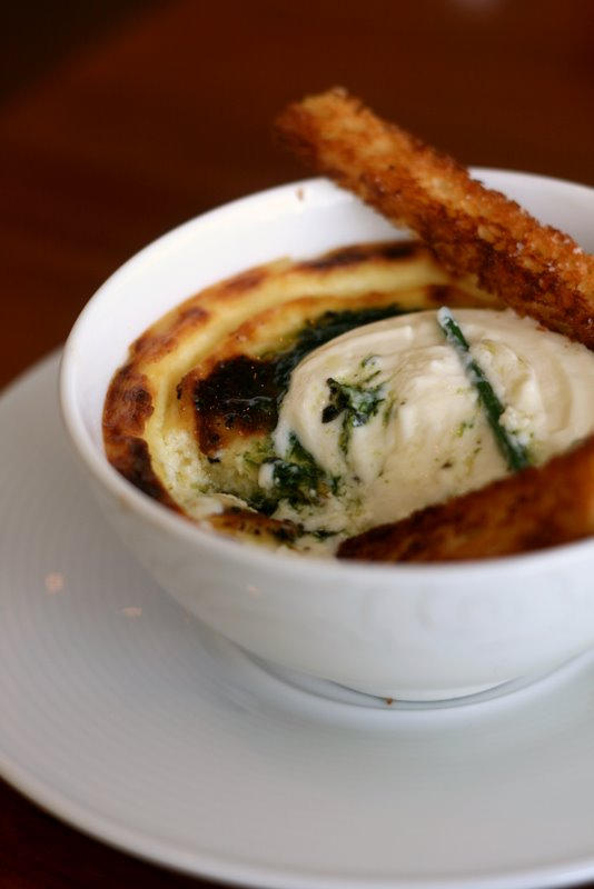 Goat Cheese Gruyere Custard