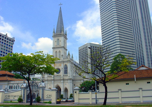 Entrance to Chijmes, Singapore