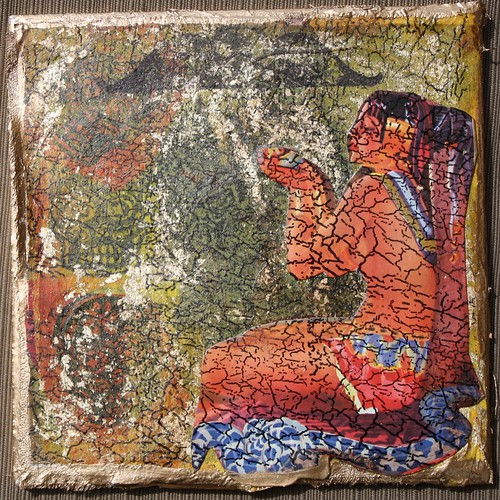 Exotic Potion Mixed Media Faux Fresco Tile by you.