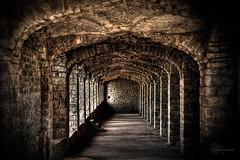 .Dungeon. (.krish.Tipirneni.) Tags: old light india dark nikon fort corridor dungeon onceuponatime ap walls hyderabad pillars deadend hpc golconda andhrapradesh golcondafort longlongago 18200vr d80 nothdr hpcwalk