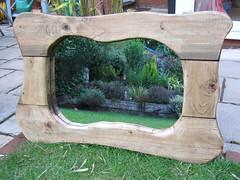 curvy rustic wooden mirror (www.rusticmirrors.co.uk Steve) Tags: wood mirror wooden rustic curvy