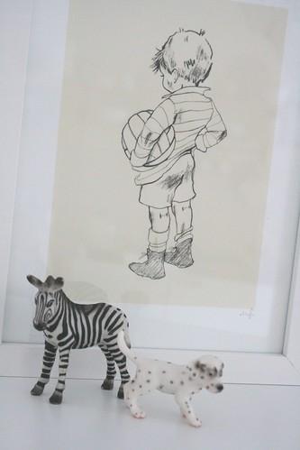 Schwarz-Weiß-Zeichnungen