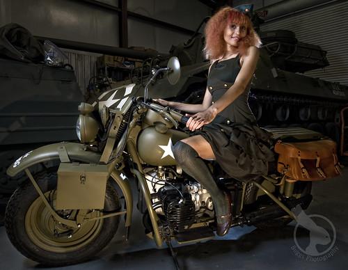 Military Biker Chick