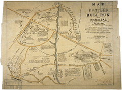 Map of the Battles of Bull Run Near Manassas