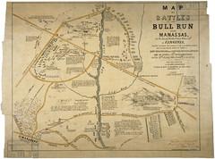 Map of the Battles of Bull Run Near Manassas