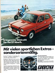 fiat 127 abarth (1977) (sonjasfotos) Tags: vintage advertising fiat 127 oldtimer werbung reklame abarth caradvertising