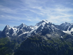 The views from the top of the Schilthorn