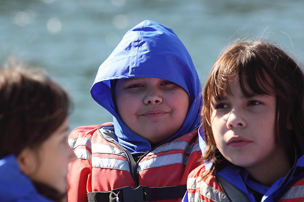 In the boat!