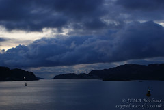 Sunset from the ferry (Stormsearch) Tags: sunset sea cloud islands scotland harbour oban westcoast isles