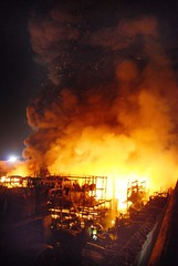 Salvage Yard Blaze in Sun Valley