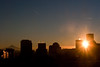 I don't like waking up to clouds (Squid Vicious) Tags: sun oregon sunrise portland downtown mthood flare