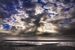 A Break in the Weather (GenoDM) Tags: sea urban canada beach water beautiful vancouver clouds canon landscape seaside sand marine rocks bc britishcolumbia tide crescentbeach whiterock lowtide ddd tidepools tidal dolle whiterockbc donderdag doka ddd4 dolledokadonderdag