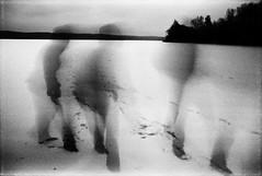 Evening steps on the lake (batuda) Tags: longexposure white black night landscape olympus om fp4plus