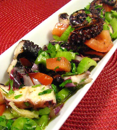 Octopus and Celery Salad