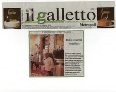 """Foto della settimana. Prima pagina del settimanale """"Il Galletto"""" del Mugello e Val di Sieve.FI"""