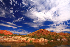 Chinaman Pool 2 (ozroadwarrior) Tags: sky clouds australia wideangle wa outback waterhole pilbara marblebar bestofaustralia chinamanpool