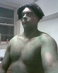Image-hulk on Halloween (dabigcunic) Tags: pictures shirtless man cute sexy men green halloween muscles shirt big paint arms pics body cut muscle muscular beefy chest low hunk dude huge vest shoulders hulk bodybuilder undershirt without stud showoff selfie triceps sleeveless stocky tumblr