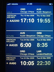 Ben's handcrafted HTML itinerary
